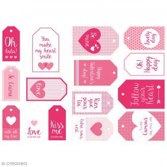 Die cut Artemio - Etiquettes Kiss me - 15 pcs