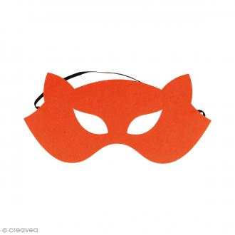 Masque en feutre - Renard orange