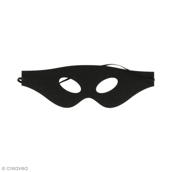 Masque en feutre - Loup noir - Photo n°1