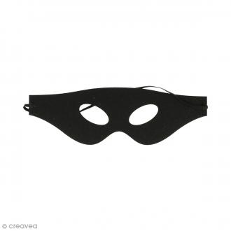 Masque en feutre - Loup noir