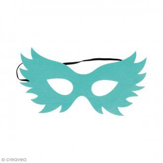 Masque en feutre - Oiseau bleu turquoise