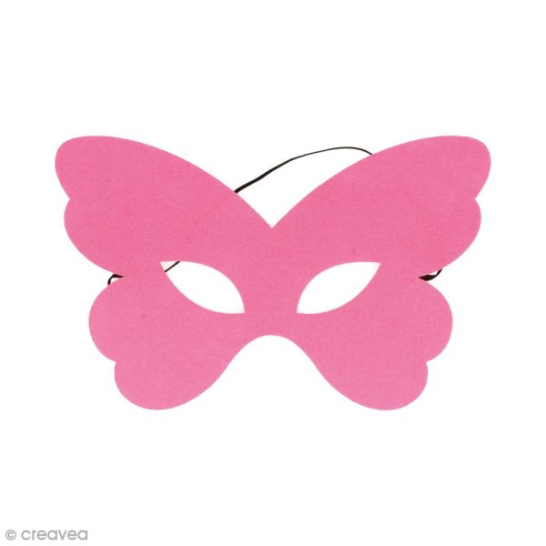 Masque en feutre - Papillon rose - Photo n°1