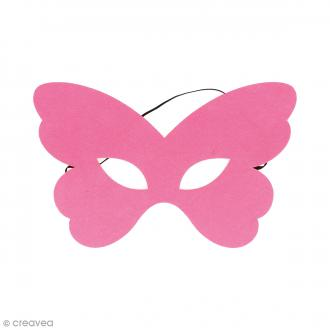 Masque en feutre - Papillon rose