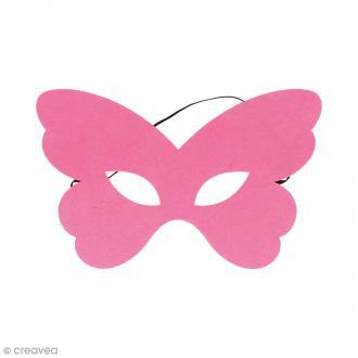 Masque en feutre - Papillon rose