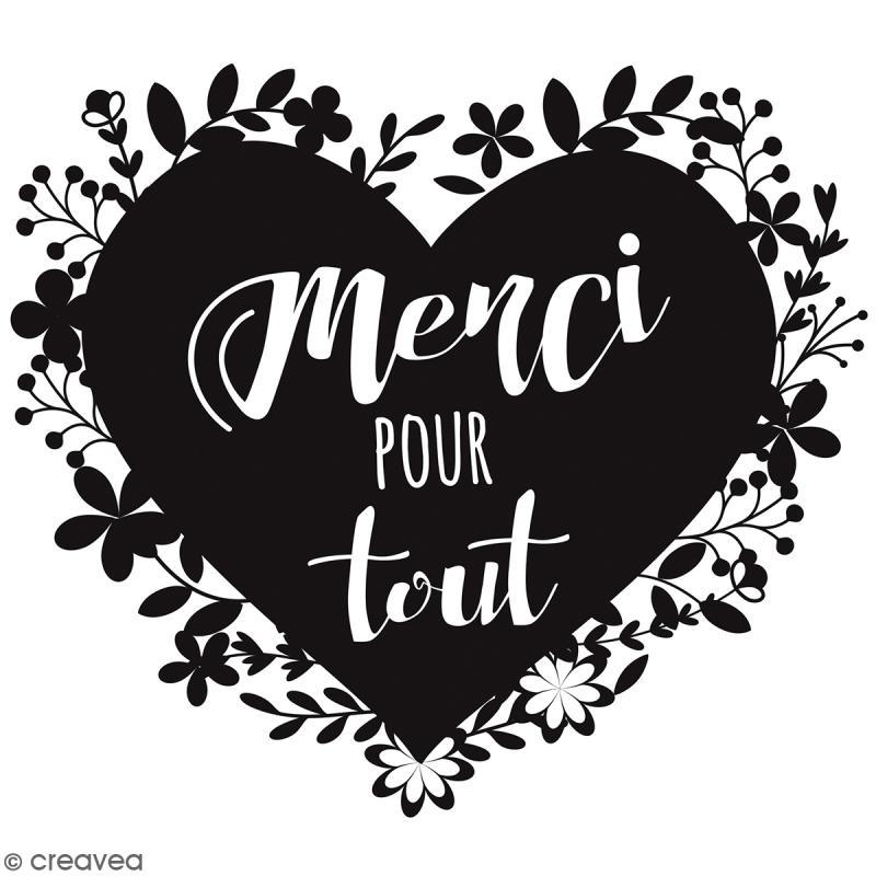 Tampon Bois Merci Pour Tout 7 X 7 Cm Tampon Bois Creavea