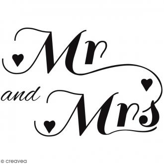 Tampon bois MR & MRS - 4 x 3 cm