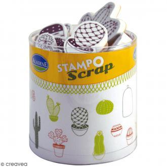 Kit de tampons Stampo Scrap - Cactus - 24 pcs