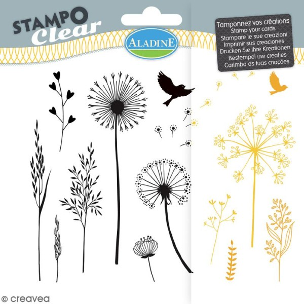 Tampon clear Aladine - Gramines - Planche 15 x 12,5 cm - 13 Stampo'clear - Photo n°1
