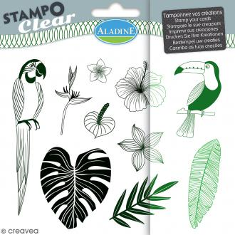 Tampon clear Aladine - Jungle - Planche 15 x 12,5 cm - 10 Stampo'clear