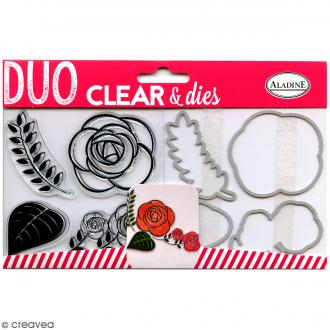 Pack Duo Clear & Dies - Rose - 8 pcs