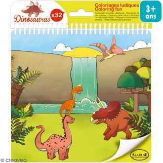 Carnet de coloriage Dinosaurus - 17 x 18 cm - 32 pages