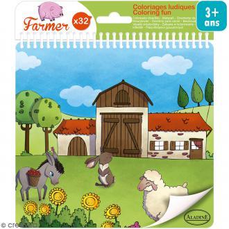 Carnet de coloriage Farmer - 17 x 18 cm - 32 pages
