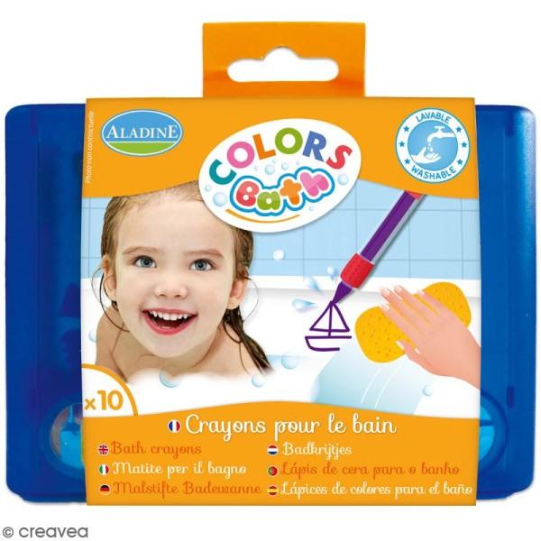 Crayons pour le bain - Colors bath - 10 pcs - Photo n°1