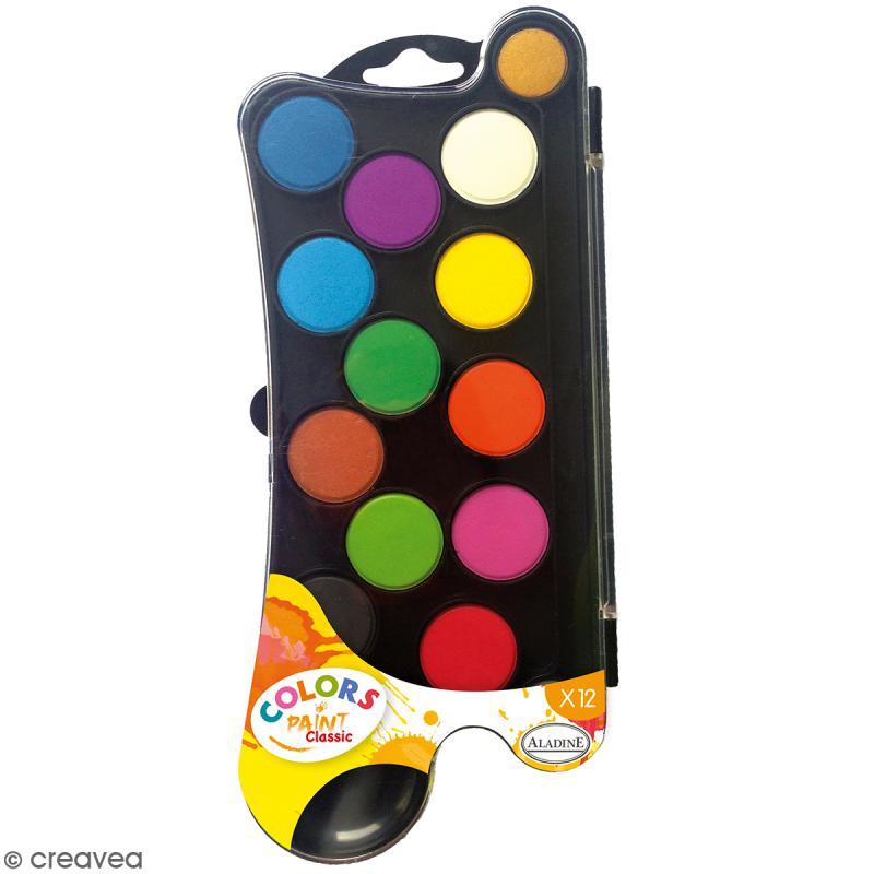 Palette de Gouache - Color Paint Classique - 12 pastilles - Photo n°1