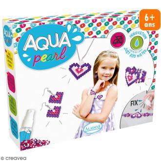 Coffret Aqua Pearl Bijoux - Perles, plaques, spray et supports bijoux
