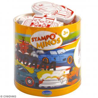 Kit Stampo Minos - Voiture - 11 tampons + 1 encreur noir