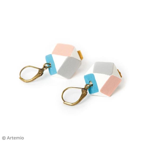 Perles polygonales en bois à décorer - 16 x 12 mm - 14 pcs - Photo n°2