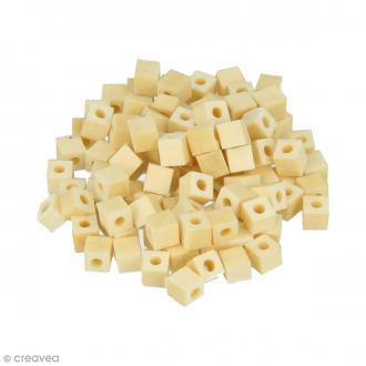 Perles carrées en bois à décorer - 5 mm - 100 pcs