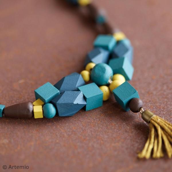 Perles carrées en bois à décorer - 15 mm - 20 pcs - Photo n°2