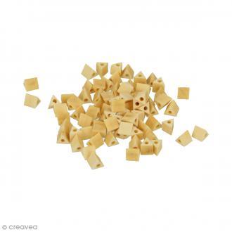 Perles triangulaires en bois à décorer - 5,3 mm - 80 pcs