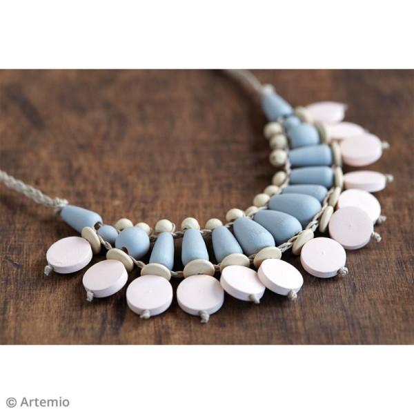 Perles plates rondes en bois à décorer - 15 mm - 15 pcs - Photo n°2