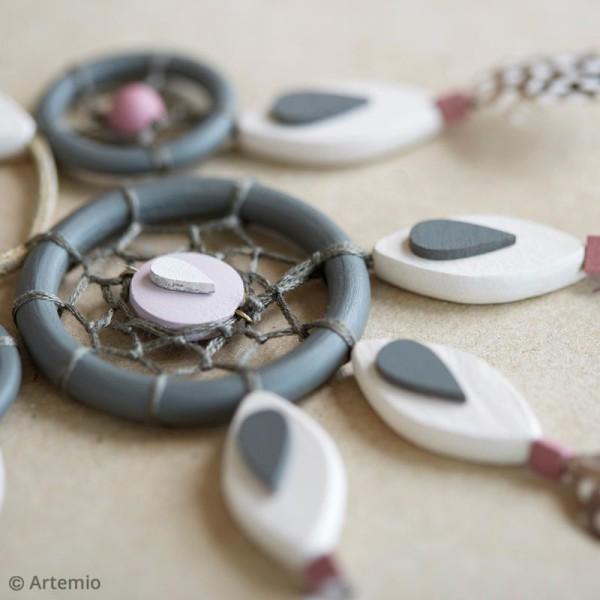 Perles plates rondes en bois à décorer - 15 mm - 15 pcs - Photo n°3