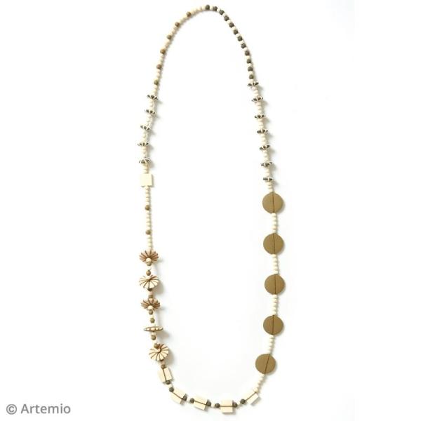 Perles plates rondes en bois à décorer - 25 mm - 26 pcs - Photo n°4