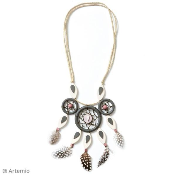 Perles plates pétales en bois à décorer - 30 x 15 mm - 16 pcs - Photo n°3