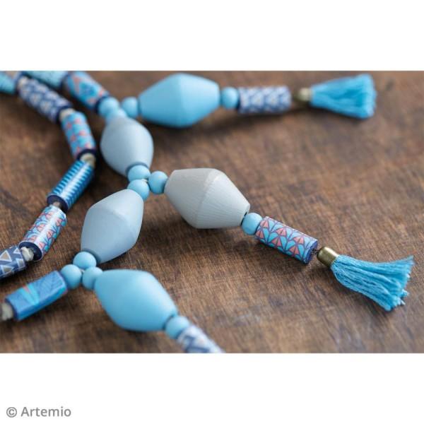 Perles toupies en bois à décorer - 30 x 20 mm - 8 pcs - Photo n°2