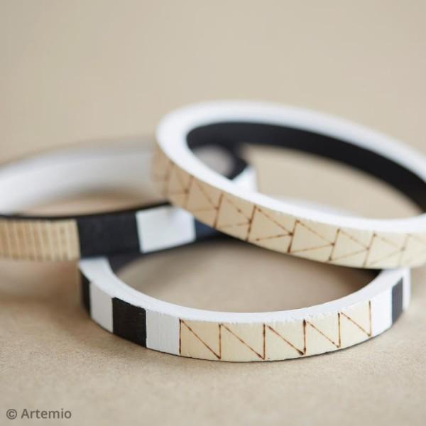 Bracelet rond en bois à décorer - 68 mm - 2 pcs - Photo n°2