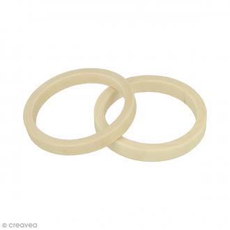 Bracelet rond en bois à décorer - 68 mm - 2 pcs