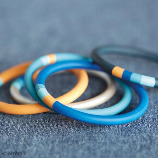 Bracelet anneau en bois à décorer - 68 mm - 2 pcs - Photo n°3