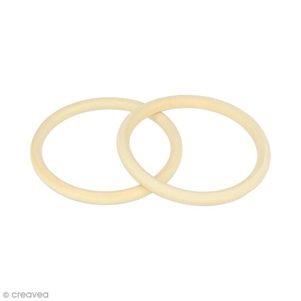 Bracelet anneau en bois à décorer - 68 mm - 2 pcs - Photo n°1