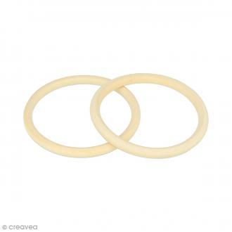 Bracelet anneau en bois à décorer - 68 mm - 2 pcs