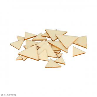 Formes plates triangles en bois à décorer - 0,9 à 3 cm - 129 pcs