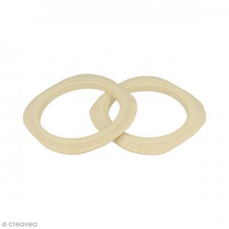 Bracelet carré en bois à décorer - 68 mm - 2 pcs
