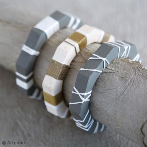 Bracelet octogonal en bois à décorer - 68 mm - 1 pce - Photo n°2