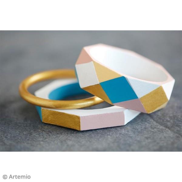 Bracelet octogonal en bois à décorer - 68 mm - 1 pce - Photo n°3