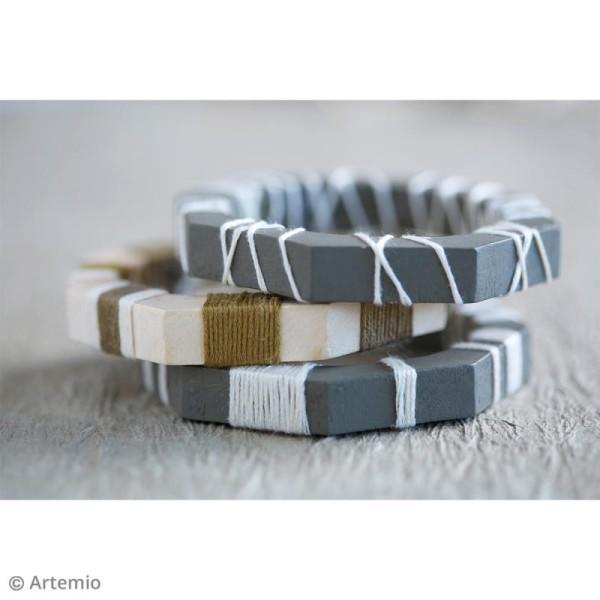 Bracelet octogonal en bois à décorer - 68 mm - 1 pce - Photo n°4