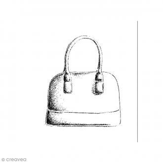 Tampon bois Sac à main - 3,6 x 4 cm