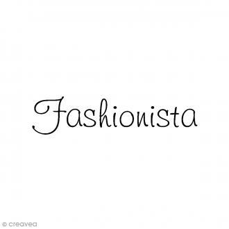Tampon bois - Fashionista - 7,5 x 2,5 cm