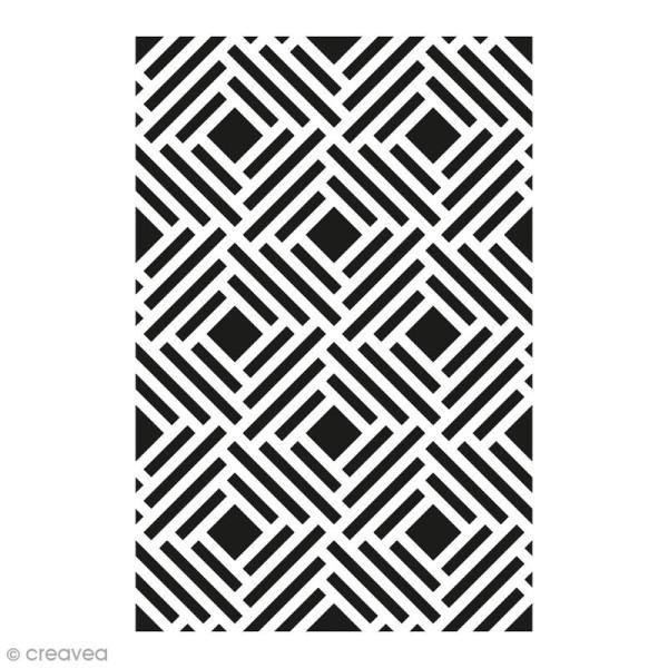 Pochoir Home Déco - Fond grille - 10 x 15 cm - Photo n°1