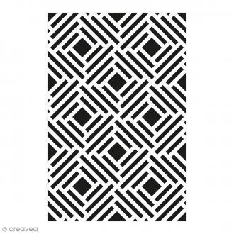 Pochoir Home Déco - Fond grille - 10 x 15 cm