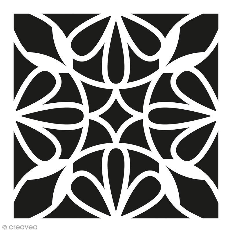 pochoir home d co carreau ciment p tales 15 x 15 cm. Black Bedroom Furniture Sets. Home Design Ideas
