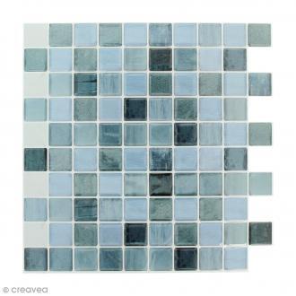 Stickers Mosaïque - Petits carrés - Bleu - 25 x 25 cm - 2 pcs