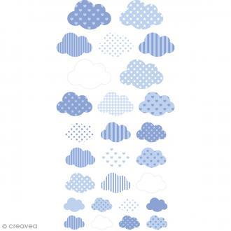 Stickers Puffies - Nuages Lollipop - Bleu - 27 pcs