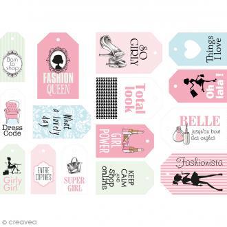 Die cut Artemio - Etiquettes papier Fashionista - 15 pcs