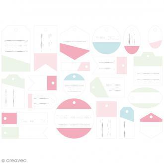 Die cut Artemio - Etiquettes cadeaux papier Fashionista - 21 pcs