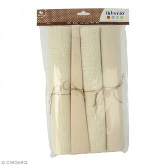 Coupon de tissu - 30 x 90 cm - 4 pcs
