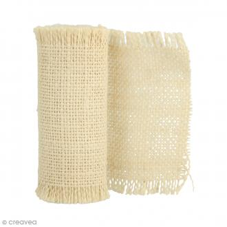 Ruban de tissu en toile de lin - Crème - 1 m - 4 pcs